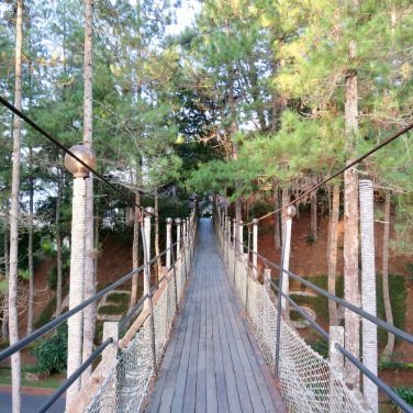 Suspension Bridge to Chalets
