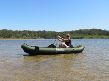 Getting the trusty canoe out at Bonville Creek Sawtell