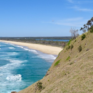 Stuart's Point Beach and Macleay Arm from Grassy Head.