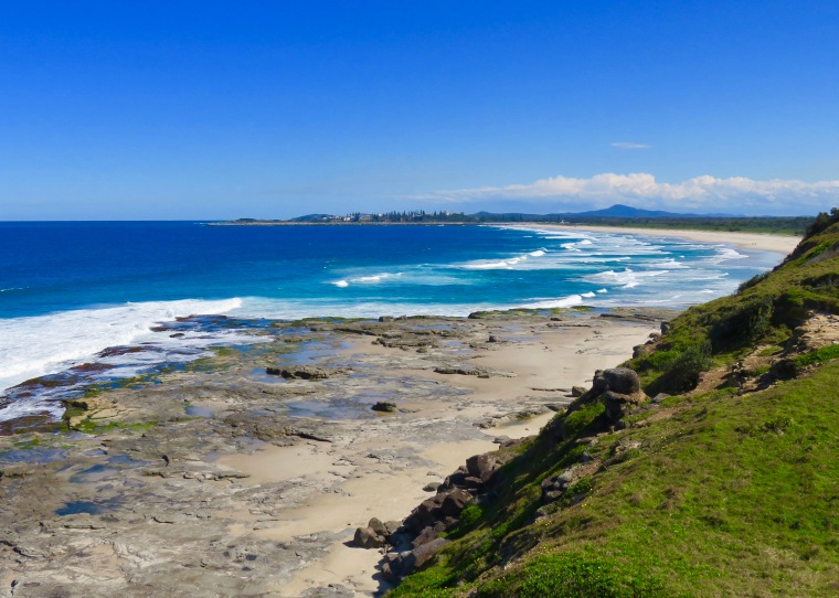 Looking over to Yamba from the Bluff