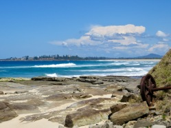 Iluka Bluff, Yamba in the distance